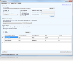 import transactions into QuickBooks